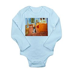 Room with Border Collie Long Sleeve Infant Bodysui