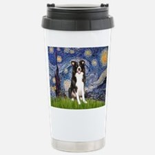 Starry Night Border Collie Stainless Steel Travel