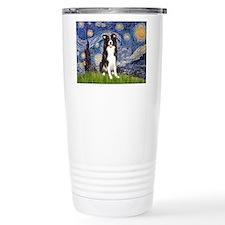 Starry Night Border Collie Travel Mug