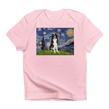 Starry Night Border Collie Infant T-Shirt
