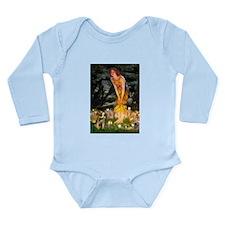 Mid Eve/Border T Long Sleeve Infant Bodysuit