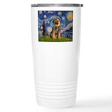 Starry Night / Border Terrier Travel Mug