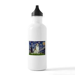 Starry Night & Borzoi Water Bottle