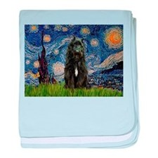 Starry Night Bouvier baby blanket