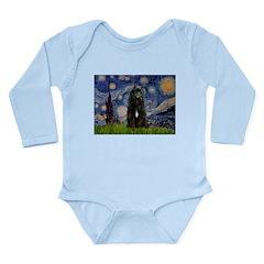 Starry Night Bouvier Long Sleeve Infant Bodysuit