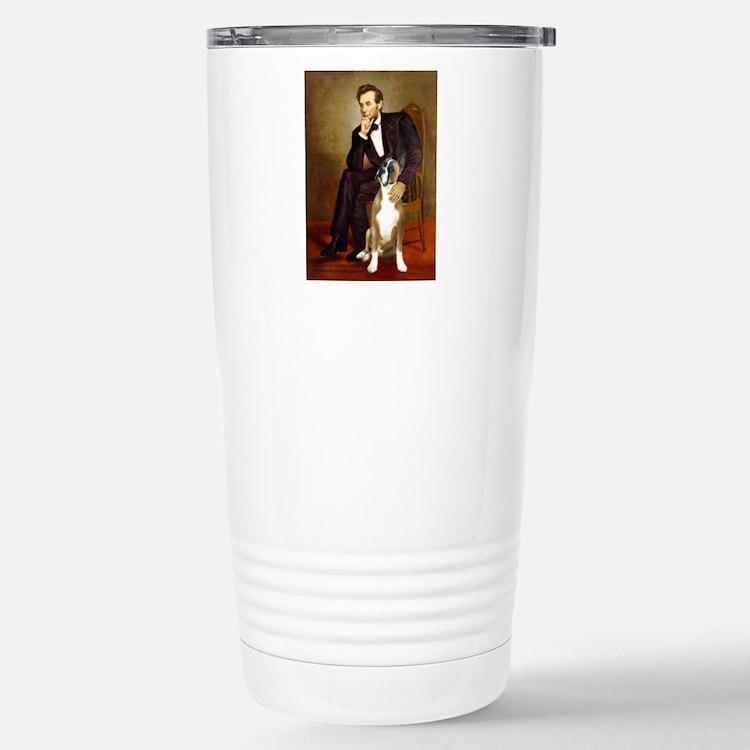Lincoln & his Boxer Travel Mug