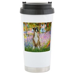 Boxer in Monet's Garden Travel Mug