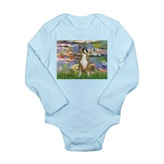 Boxer (1) in Monet's Lilies Long Sleeve Infant Bod