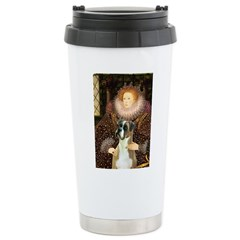 The Queen & her Boxer Stainless Steel Travel Mug
