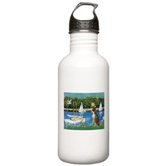 Sailboats & Boxer Water Bottle