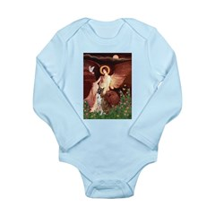 Seated Angel & Boxer Long Sleeve Infant Bodysuit
