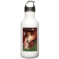 Seated Angel & Boxer Water Bottle