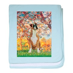 Spring with a Boxer baby blanket
