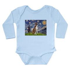 Starry / Boxer Long Sleeve Infant Bodysuit
