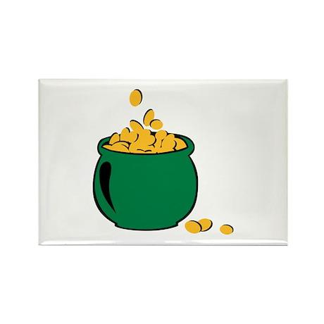 St. Patricks gold pot Rectangle Magnet (100 pack)
