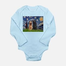 Starry - 2 Briards Long Sleeve Infant Bodysuit