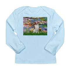 Lilies 2/Brittany Spaniel Long Sleeve Infant T-Shi