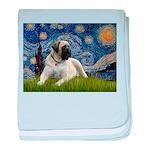 Starry / Bullmastiff baby blanket