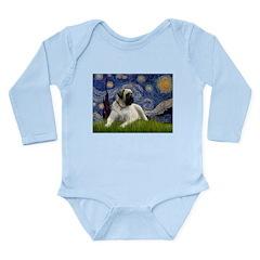 Starry / Bullmastiff Long Sleeve Infant Bodysuit
