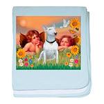 Angels & Bull Terrier #1 baby blanket