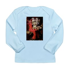 The Lady's Bull Terrier Long Sleeve Infant T-Shirt
