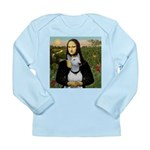 Mona's Bull Terrier Long Sleeve Infant T-Shirt