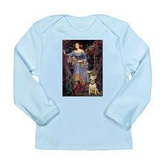 Ophelia / Bull Ter Long Sleeve Infant T-Shirt