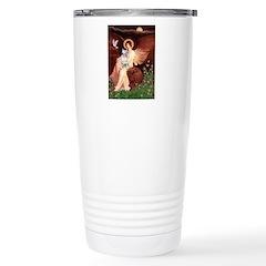 SeatedAngel-BullTerrier Travel Mug