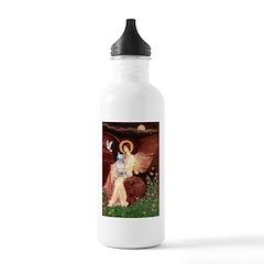 SeatedAngel-BullTerrie Water Bottle