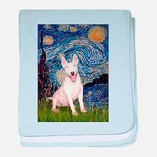Starry/Bull Terrier (#4) baby blanket