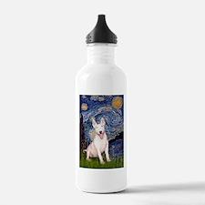 Starry/Bull Terrier (#4) Water Bottle