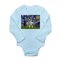 Starry / Catahoula Leopard Dog Long Sleeve Infant