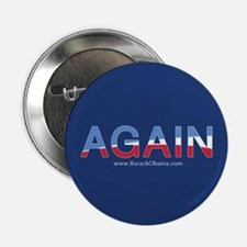 Obama AGAIN Button 2.25""