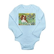Irises & Cavalier Long Sleeve Infant Bodysuit