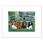 Bridge & 4 Cavaliers Small Poster