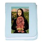 Mona's Ruby Cavalier baby blanket