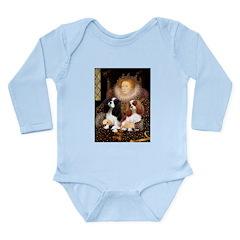 The Queens Cavalier Pair Long Sleeve Infant Bodysu