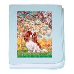 Spring & Cavalier baby blanket