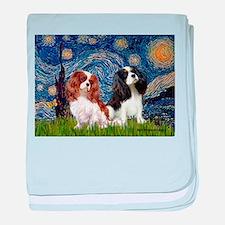 Starry Cavalier Pair baby blanket