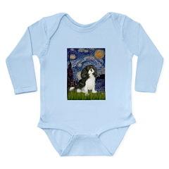 Starry Night / Cavalier Long Sleeve Infant Bodysui