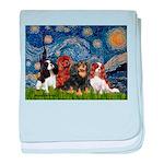 Starry / 4 Cavaliers baby blanket