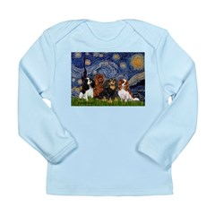 Starry / 4 Cavaliers Long Sleeve Infant T-Shirt