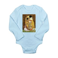 The Kiss & Cavalier Long Sleeve Infant Bodysuit