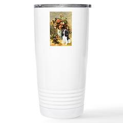 Flowers & Tri Cavalier Stainless Steel Travel Mug