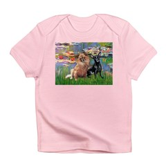 Lilies (2) & 2 Chihuahuas Infant T-Shirt
