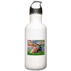Lilies (2) & 2 Chihuahuas Water Bottle
