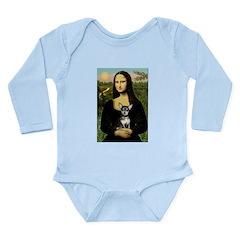 Mona Lisa / Chihuahua Long Sleeve Infant Bodysuit