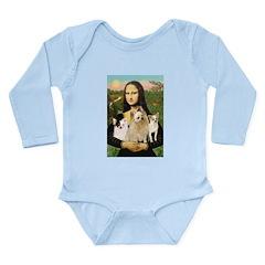 Mona / 3 Chihs Long Sleeve Infant Bodysuit