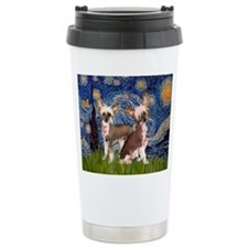 Starry Night / 2Chinese Crest Thermos Mug