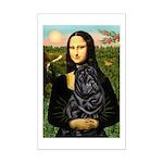 Mona's Black Shar Pei Mini Poster Print